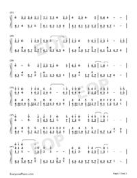 At First Sight-East Palace Theme-Numbered-Musical-Notation-Preview-2