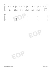 At First Sight-East Palace Theme-Numbered-Musical-Notation-Preview-3