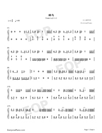Hummingbird-Wait In Beijing Theme-Numbered-Musical-Notation-Preview-1