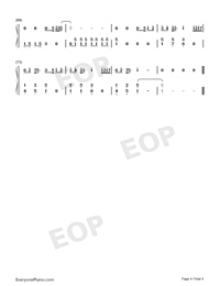 Hummingbird-Wait In Beijing Theme-Numbered-Musical-Notation-Preview-4