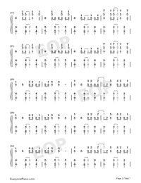 Reverse-TikTok Hot Song Numbered Musical Notation Preview 2
