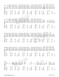 Reverse-TikTok Hot Song Numbered Musical Notation Preview 4