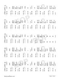 Reverse-TikTok Hot Song Numbered Musical Notation Preview 5