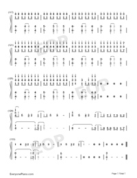 Reverse-TikTok Hot Song Numbered Musical Notation Preview 7
