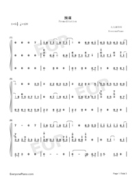 Premeditation-TikTok Hot Song-Numbered-Musical-Notation-Preview-1