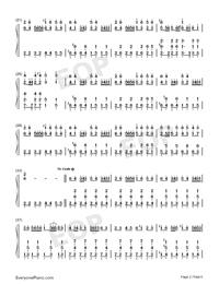 Night of Nights-Touhou Kaeidzuka-Numbered-Musical-Notation-Preview-2