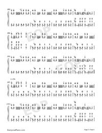 Night of Nights-Touhou Kaeidzuka-Numbered-Musical-Notation-Preview-5