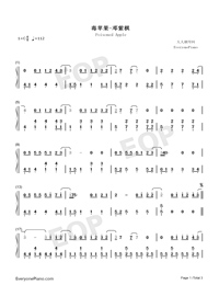 Poisoned Apple-G.E.M.-Numbered-Musical-Notation-Preview-1