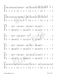 Sakura Rains-Numbered-Musical-Notation-Preview-2