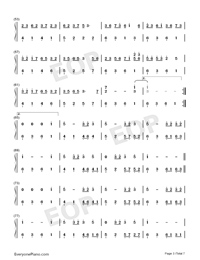 Sakura Rains-Numbered-Musical-Notation-Preview-3
