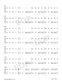 Sakura Rains-Numbered-Musical-Notation-Preview-4