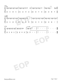 Sakura Rains-Numbered-Musical-Notation-Preview-7