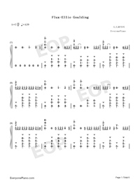 Flux-Ellie Goulding-Numbered-Musical-Notation-Preview-1