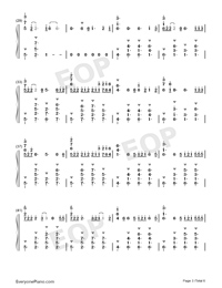 Flux-Ellie Goulding-Numbered-Musical-Notation-Preview-3