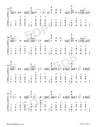 Flux-Ellie Goulding-Numbered-Musical-Notation-Preview-4