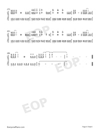 Flux-Ellie Goulding-Numbered-Musical-Notation-Preview-6