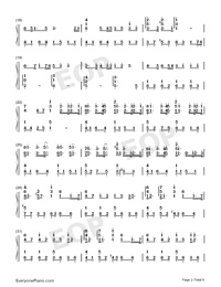 Lemon-Perfect Version Numbered Musical Notation Preview 2