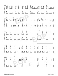 Lemon-Perfect Version Numbered Musical Notation Preview 4