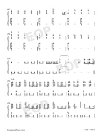 Lemon-Perfect Version Numbered Musical Notation Preview 5