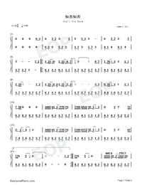 知否知否-C調簡易版-唱出多少人心中的無奈雙手簡譜預覽1