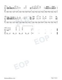 知否知否-C調簡易版-唱出多少人心中的無奈雙手簡譜預覽2