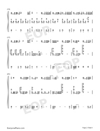 Baby-Baby Theme-Numbered-Musical-Notation-Preview-2
