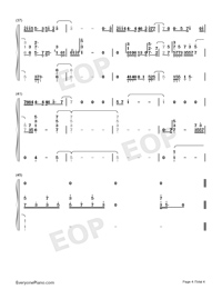 Baby-Baby Theme-Numbered-Musical-Notation-Preview-4