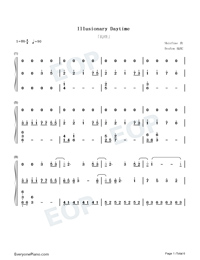 Illusionary Daytime-Shirfine Numbered Musical Notation Preview 1