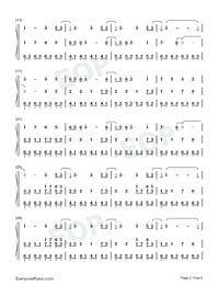 Illusionary Daytime-Shirfine Numbered Musical Notation Preview 2