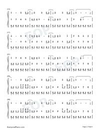 Illusionary Daytime-幻晝雙手簡譜預覽2