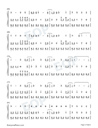 Illusionary Daytime-Shirfine Numbered Musical Notation Preview 5