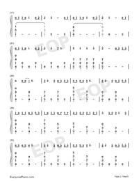綠色-完美鋼琴版-抖音爆火雙手簡譜預覽2