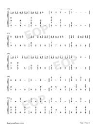 綠色-完美鋼琴版-抖音爆火雙手簡譜預覽3