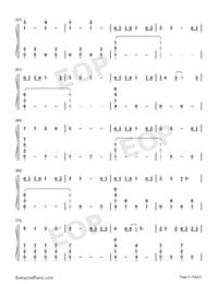 綠色-完美鋼琴版-抖音爆火雙手簡譜預覽4
