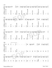 綠色-完美鋼琴版-抖音爆火雙手簡譜預覽5