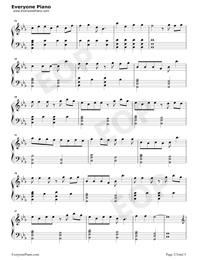 綠色-完美鋼琴版-抖音爆火五線譜預覽2
