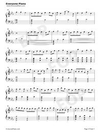 綠色-完美鋼琴版-抖音爆火五線譜預覽4