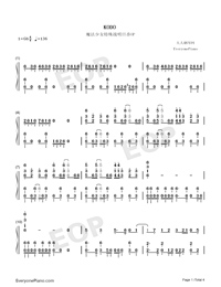 KODO-Magical Girl Spec-Ops Asuka OP-Numbered-Musical-Notation-Preview-1
