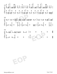 KODO-Magical Girl Spec-Ops Asuka OP-Numbered-Musical-Notation-Preview-4