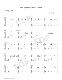 Beginning-Ryan Arcand両手略譜プレビュー1