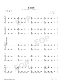 Birchleaf Pear with Fine Snow-Numbered-Musical-Notation-Preview-1