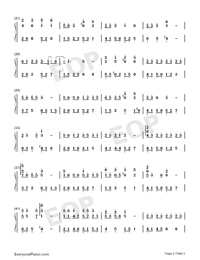 Birchleaf Pear with Fine Snow-Numbered-Musical-Notation-Preview-2