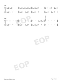 Birchleaf Pear with Fine Snow-Numbered-Musical-Notation-Preview-3
