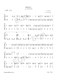 Gavotte 20-Johann Sebastian Bach-Numbered-Musical-Notation-Preview-1