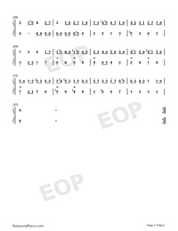 Gavotte 20-Johann Sebastian Bach-Numbered-Musical-Notation-Preview-2
