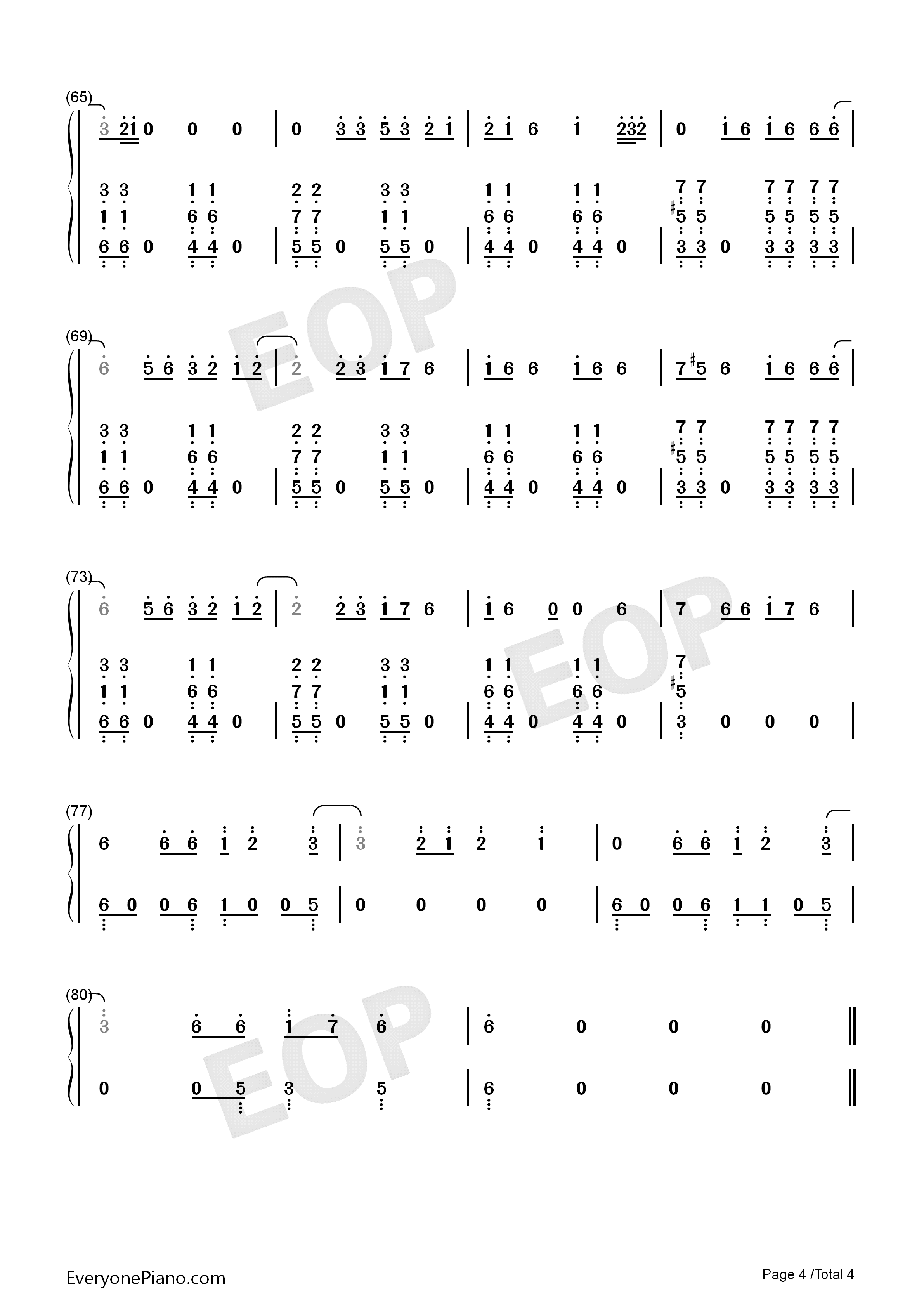 Sucker-Jonas Brothers Numbered Musical Notation Preview 4