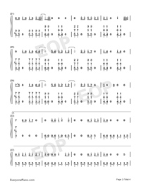 Sucker-Jonas Brothers-Numbered-Musical-Notation-Preview-2