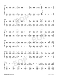 Sucker-Jonas Brothers-Numbered-Musical-Notation-Preview-3