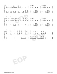 Polonaise 22-Johann Sebastian Bach Numbered Musical Notation Preview 2