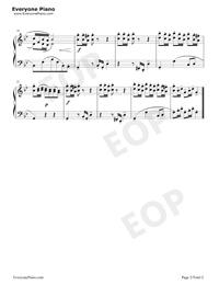 ポロネーズ 22-バッハ初級ピアノ曲集五線譜プレビュー2